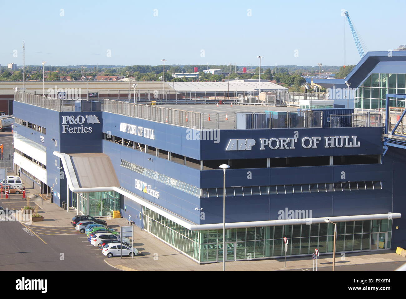 P&O Ferries at the port of Hull - Stock Image