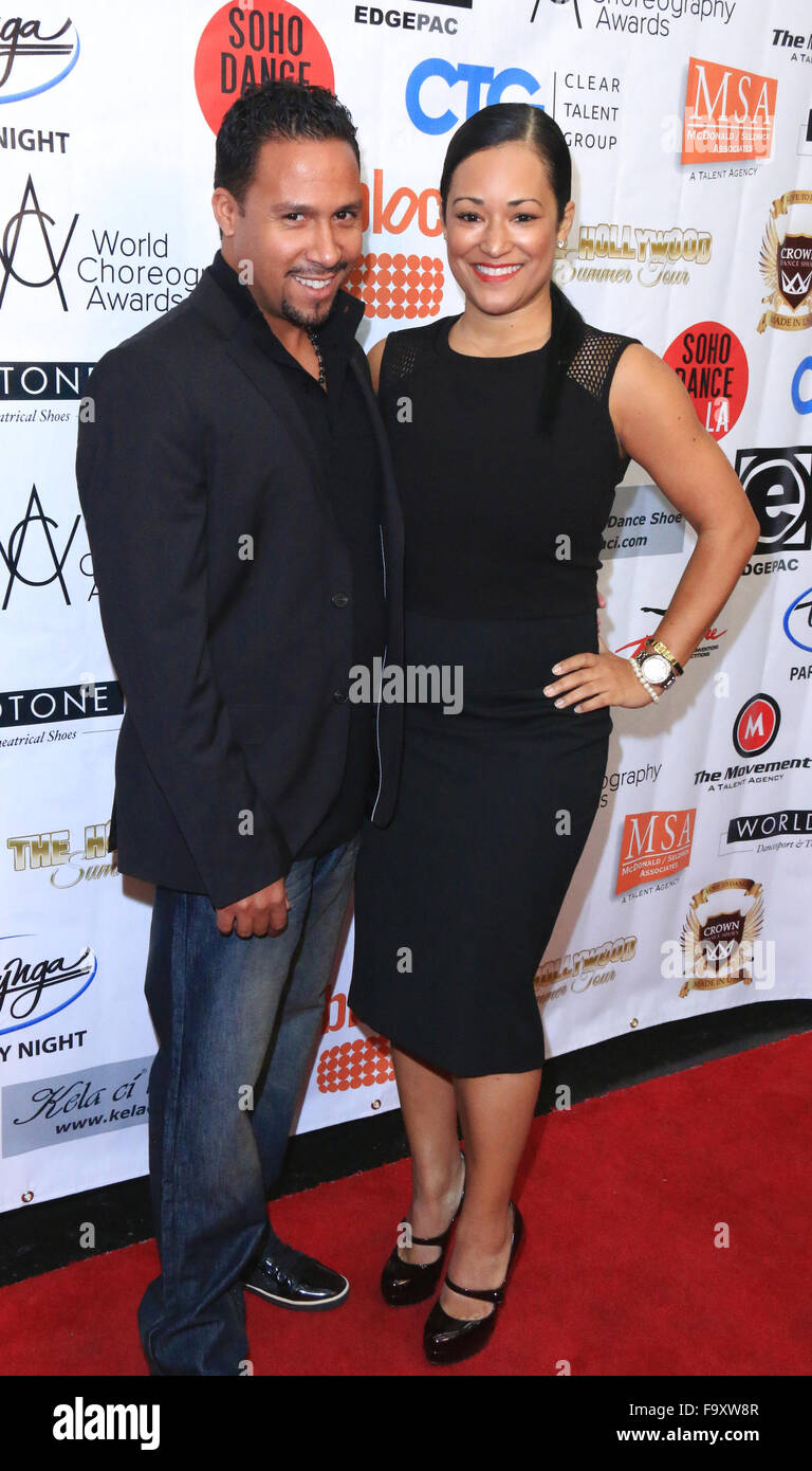 World Choreography Awards at The Ricardo Montalban Theatre - Arrivals  Featuring: Angela Carter Where: Los Angeles, - Stock Image