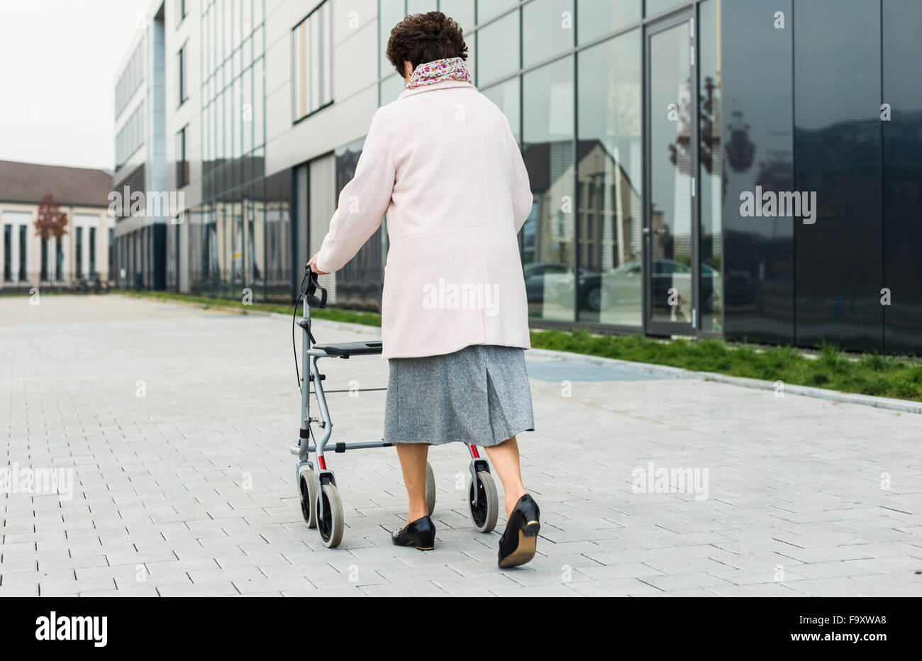 Old Person Walking Frame Stock Photos & Old Person Walking Frame ...