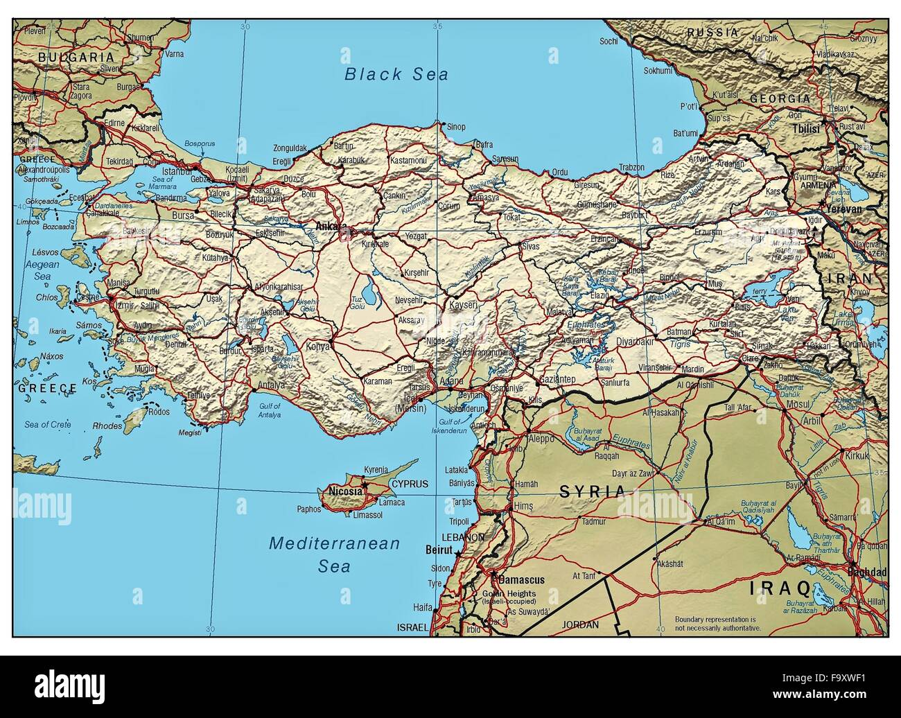 Turkey Country Map Stock Photos & Turkey Country Map Stock Images ...