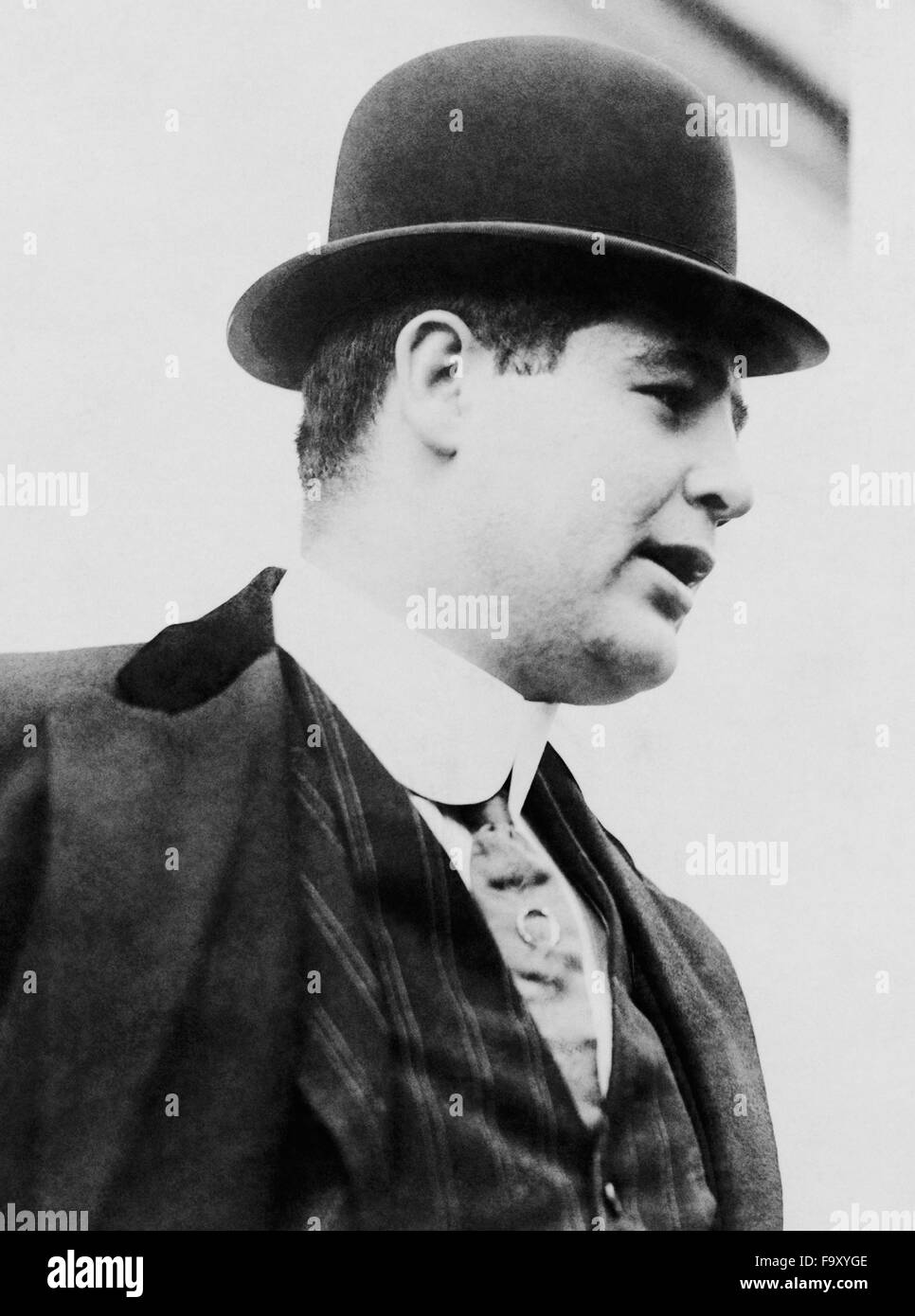 Vintage photo of American boxer Samuel Berger (1884 - 1925) - the first Olympic Heavyweight Champion. Berger, based - Stock Image