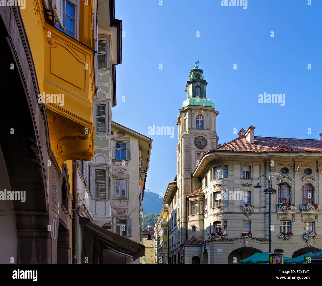 Bozen Rathaus - Bolzano townhall 01 - Stock Image