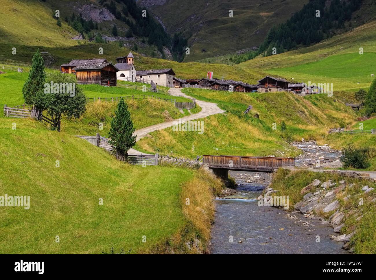 Fane Alm - Fane Alp 01 Stock Photo