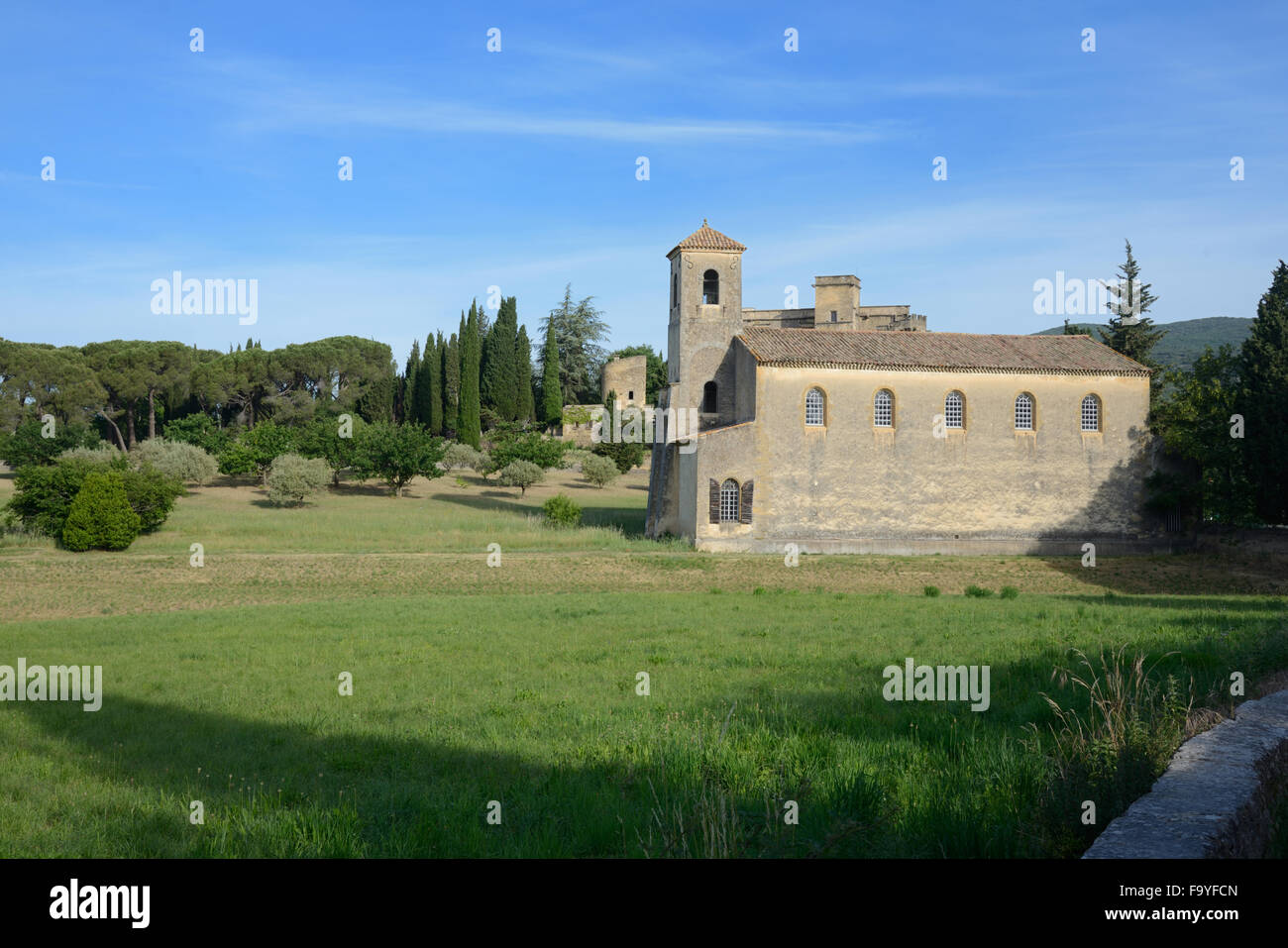 Protestant Church Lourmarin Luberon Vaucluse Provence France - Stock Image