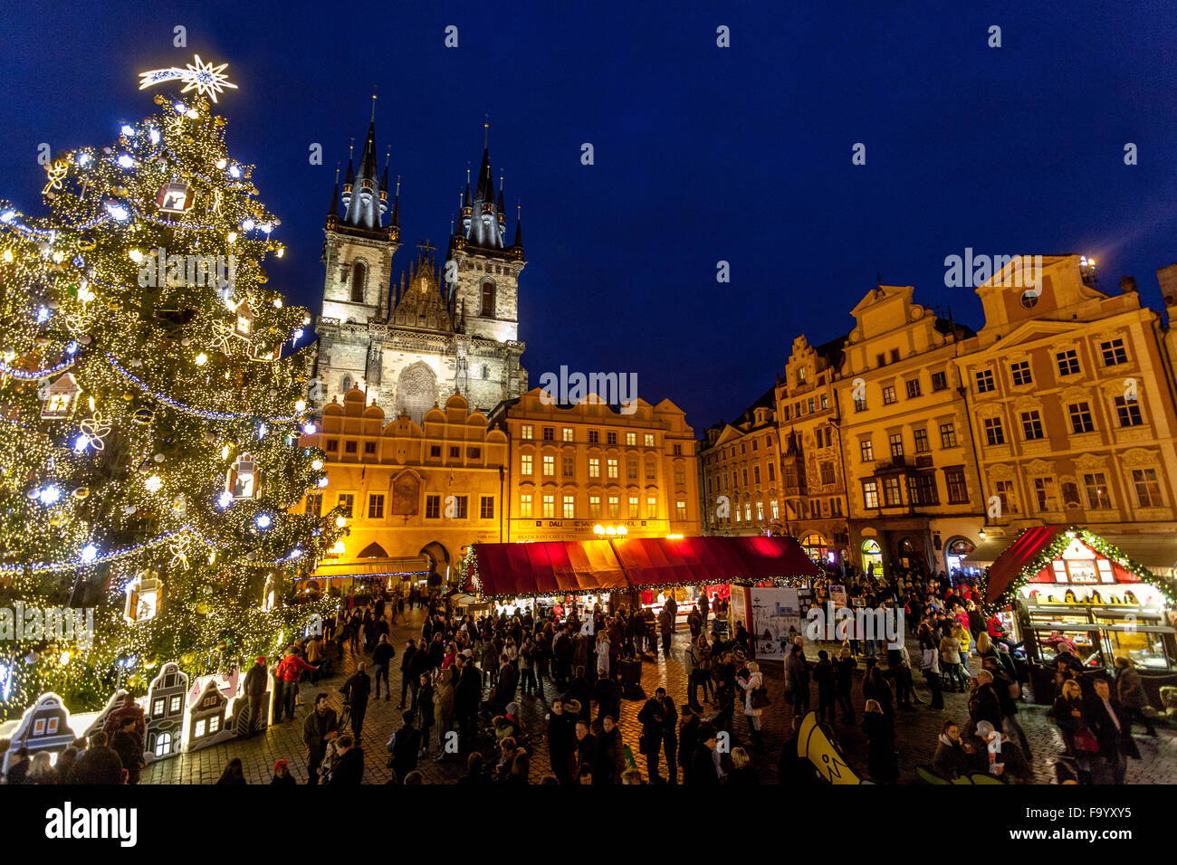 traditional prague christmas market markets in old town square prague czech republic europe