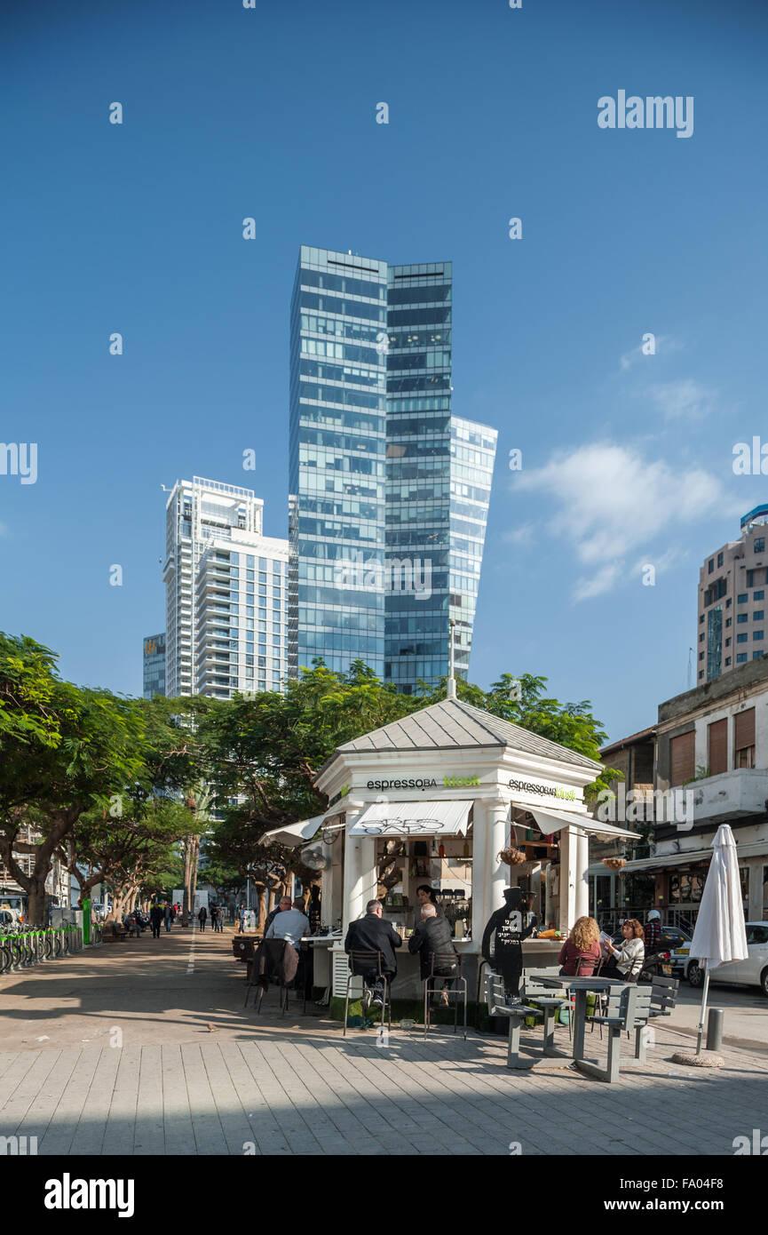 Israel, Tel Aviv, sderot Rothschild boulevard - Stock Image