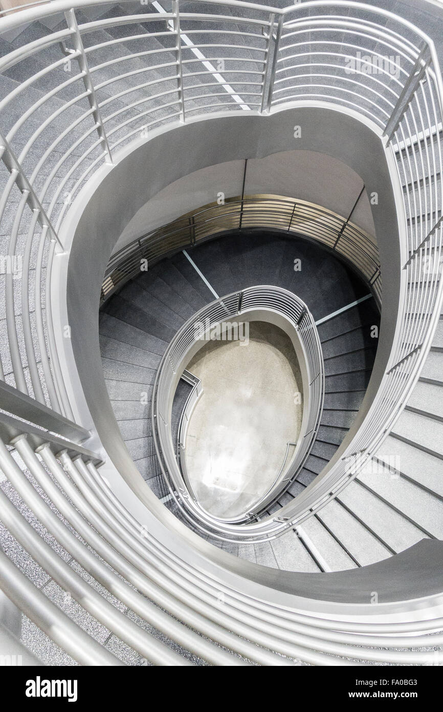 Delightful Spiral Stairs At The Petersen Automotive Museum In Los Angeles Form A  Strong Graphic Image.