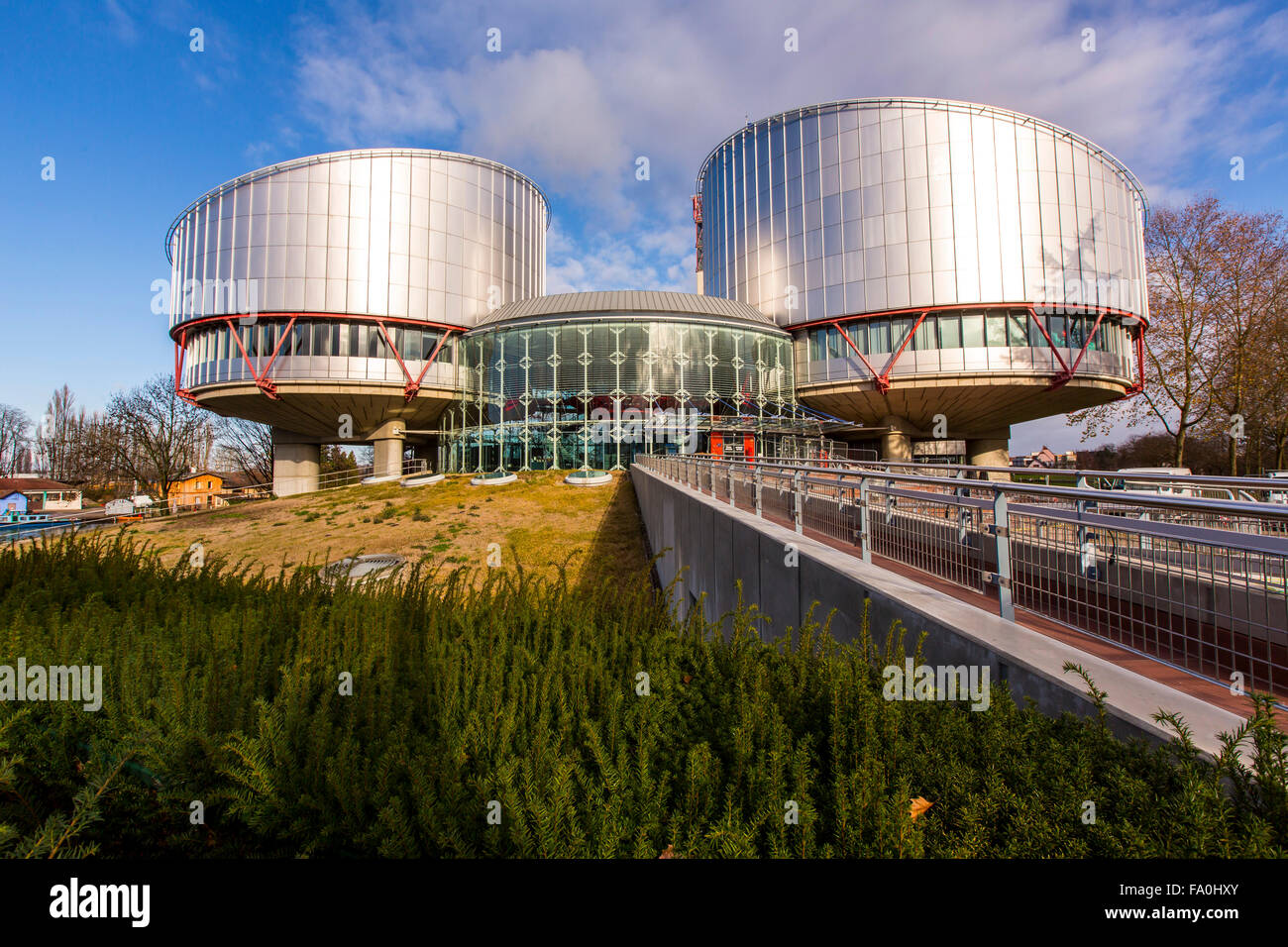 Building of the European Court of Human Rights in Strasbourg, Alsace, France - Stock Image