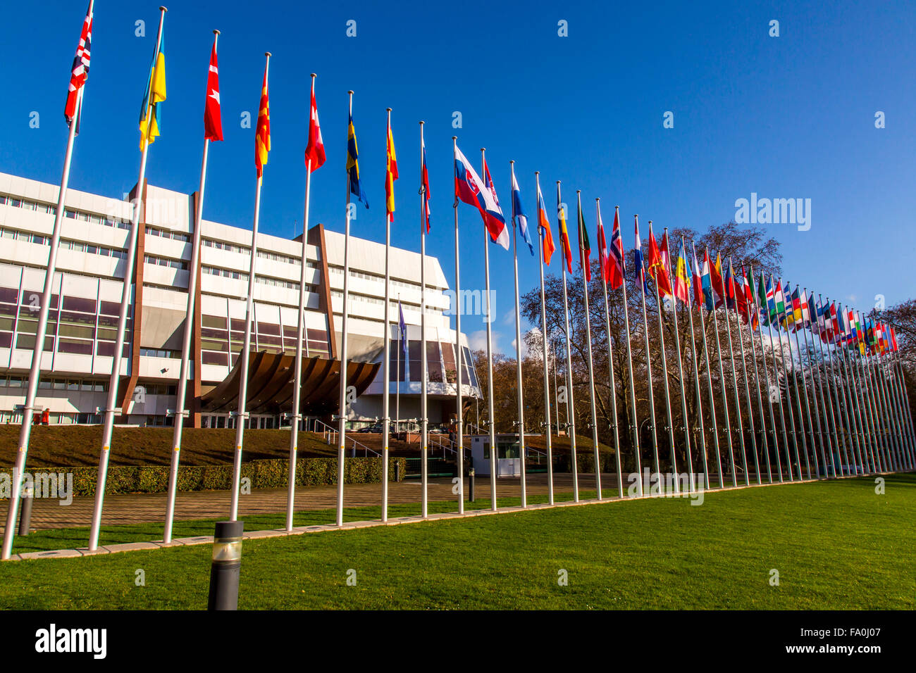 Building of the Council of Europe, Strasbourg, Alsace, France Stock Photo