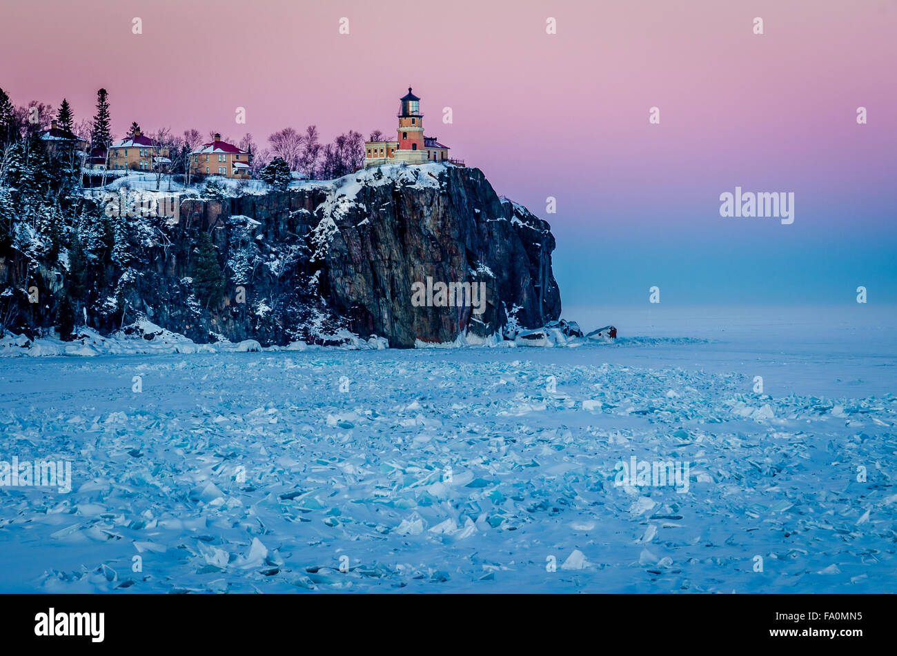 Split Rock Lighthouse, Minnesota - Stock Image