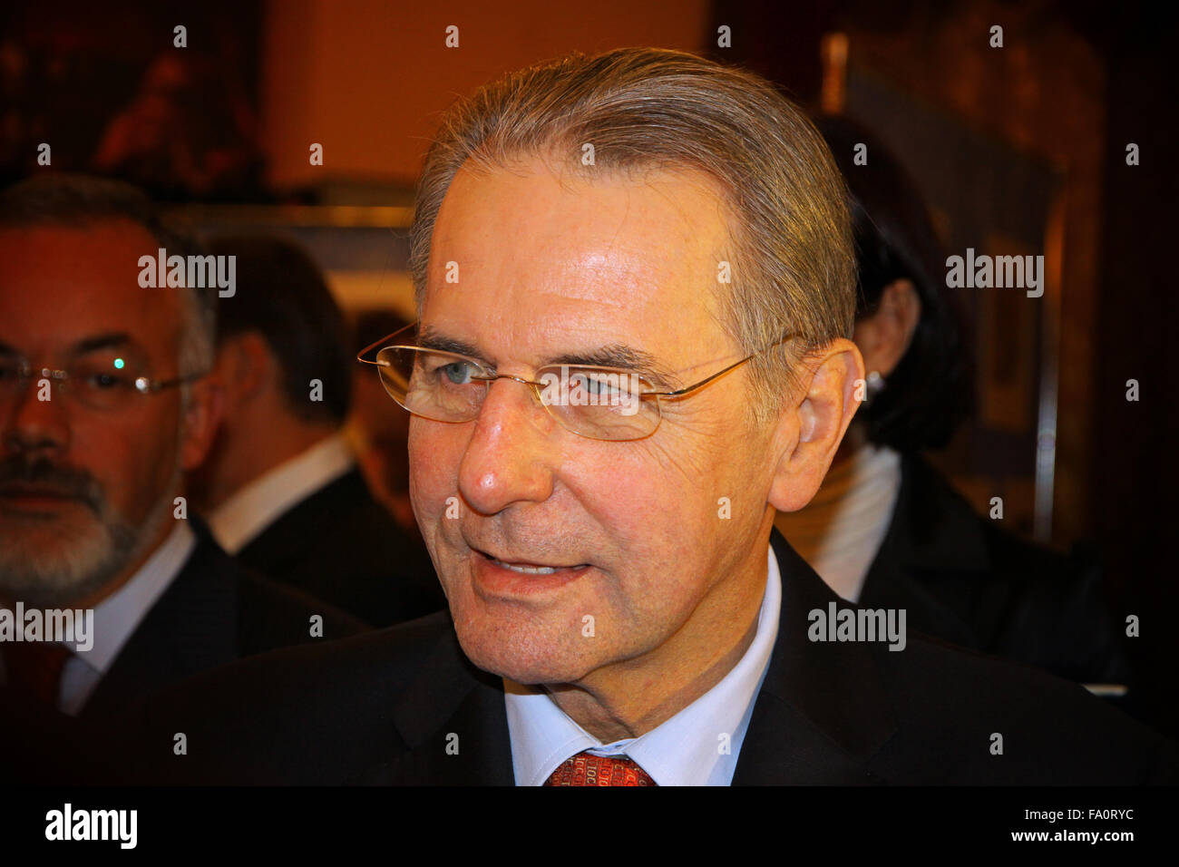 KYIV, UKRAINE - DECEMBER 17, 2010: Current President of the International Olympic Committee (IOC) Jacques Rogge - Stock Image