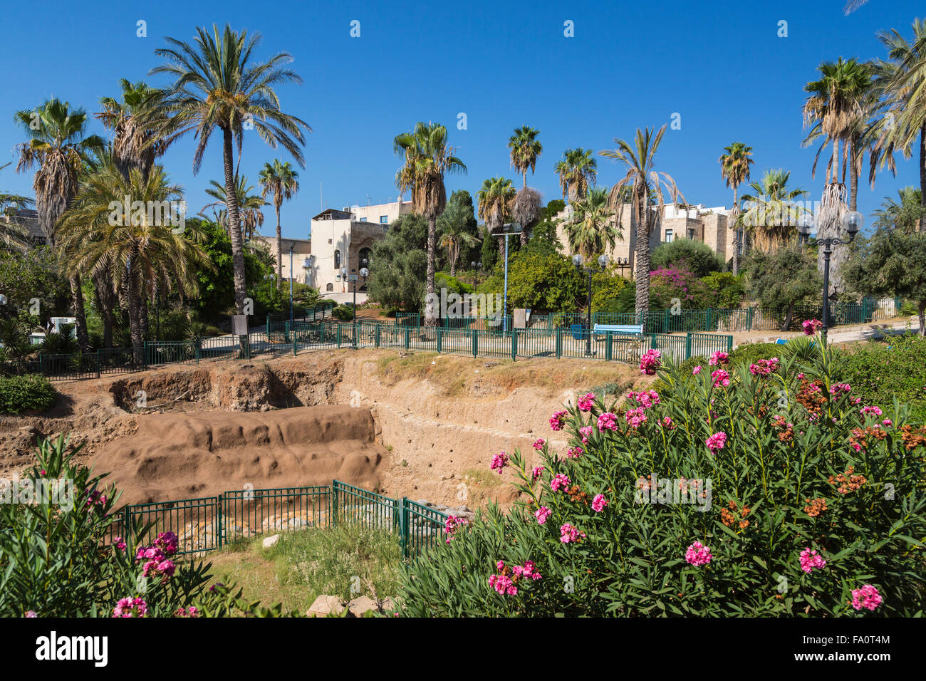 Excavations in the old city of Jaffa, Tel Aviv, Israel, Middle East. - Stock Image