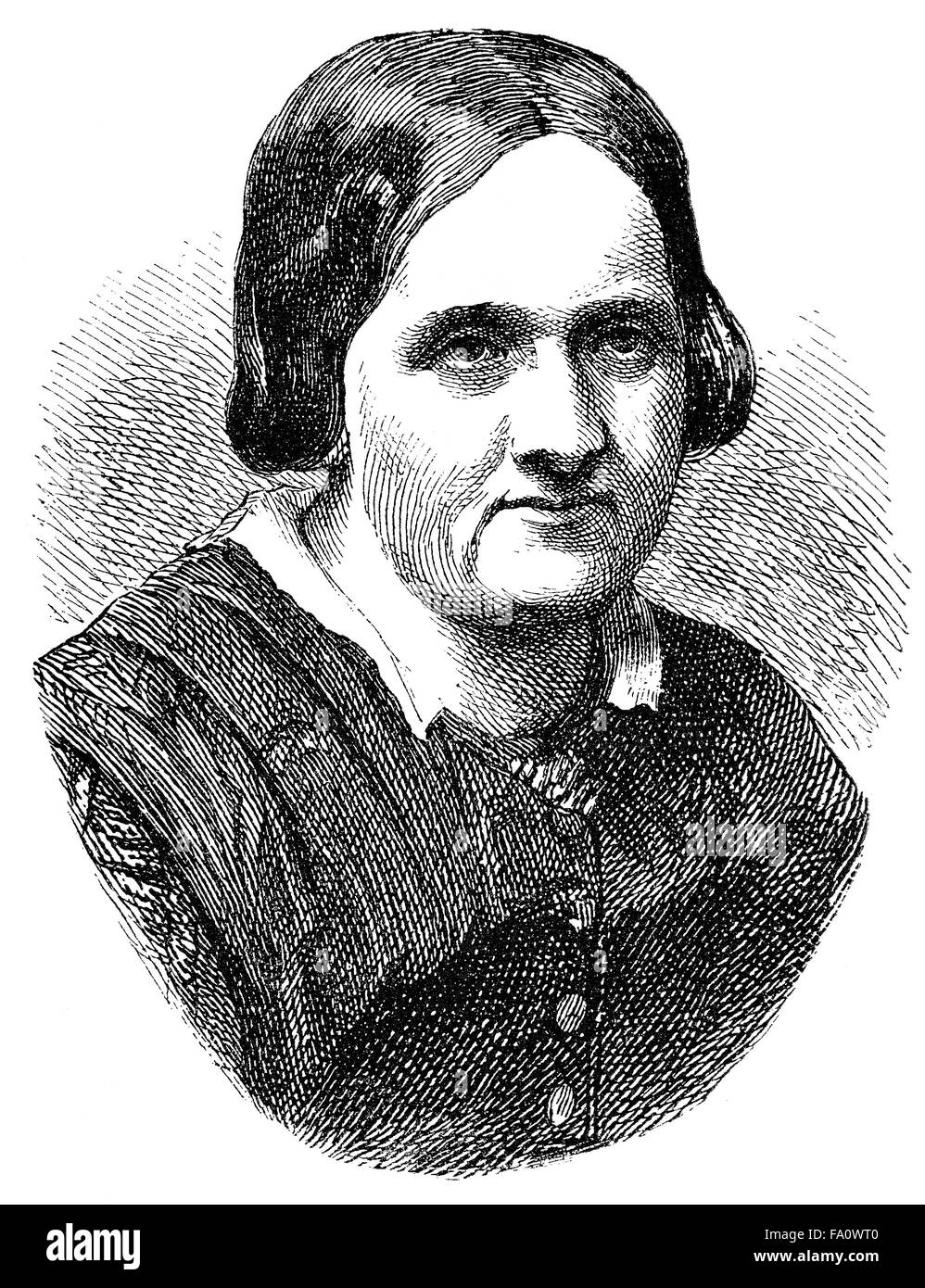Ottilie Wildermuth, 1817-1877, German writer and youth book author, - Stock Image