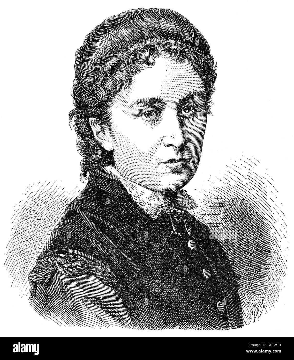 Klara Bauer, 1836-1876, Pseudonym Karl Detlef, German writer, - Stock Image