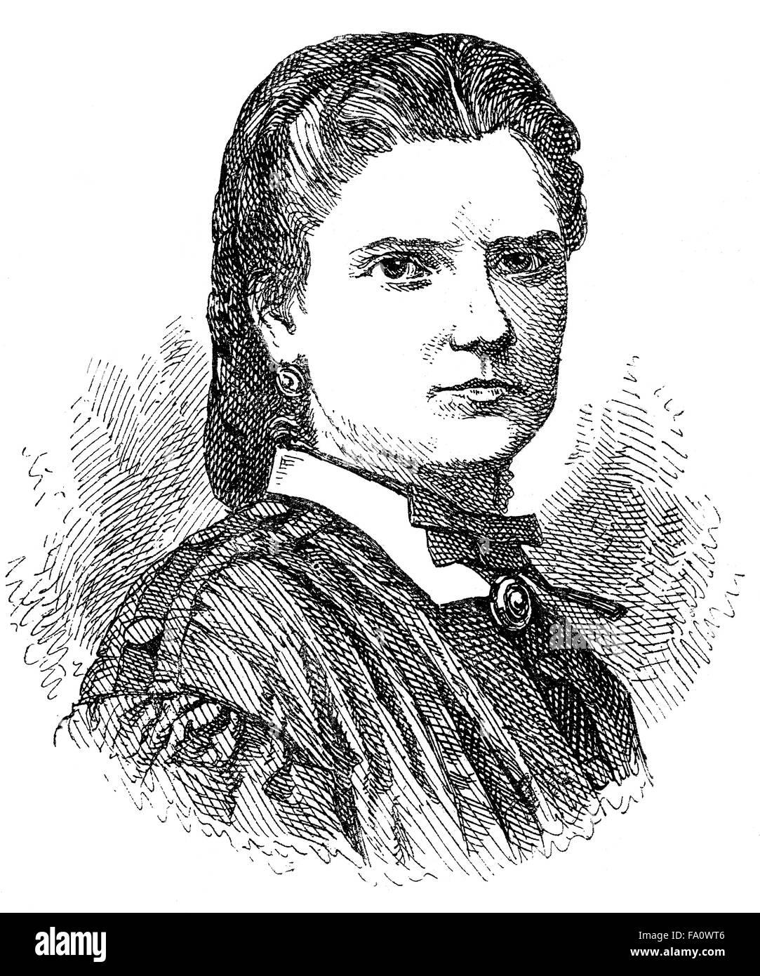 Aglaia von Enderes, 1836-1883, an Austrian writer, - Stock Image