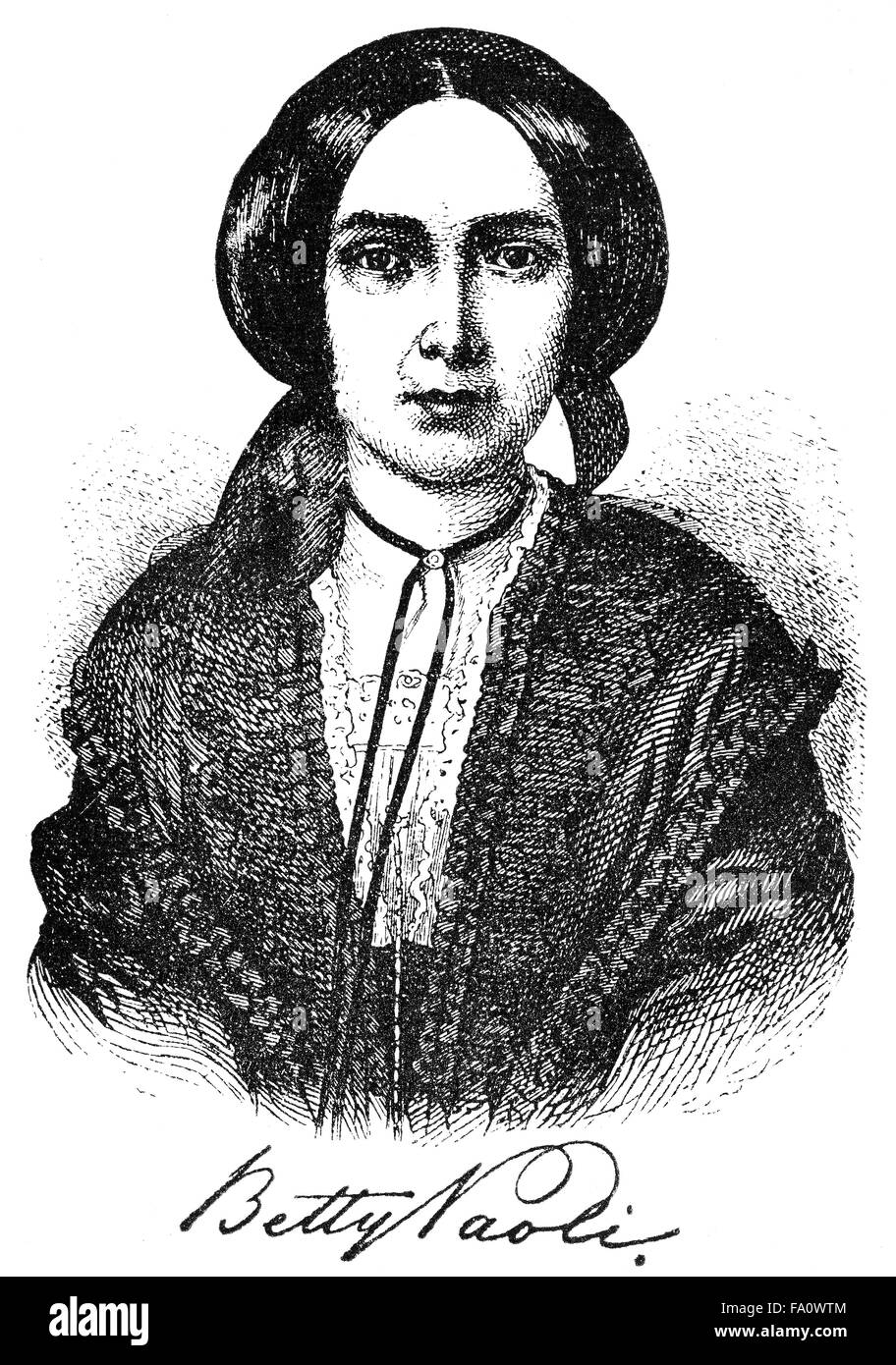 Barbara Elisabeth Glück, Pseudonym Betty Paoli, 1814-1894, an Austrian poet, novelist, journalist and translator, Stock Photo