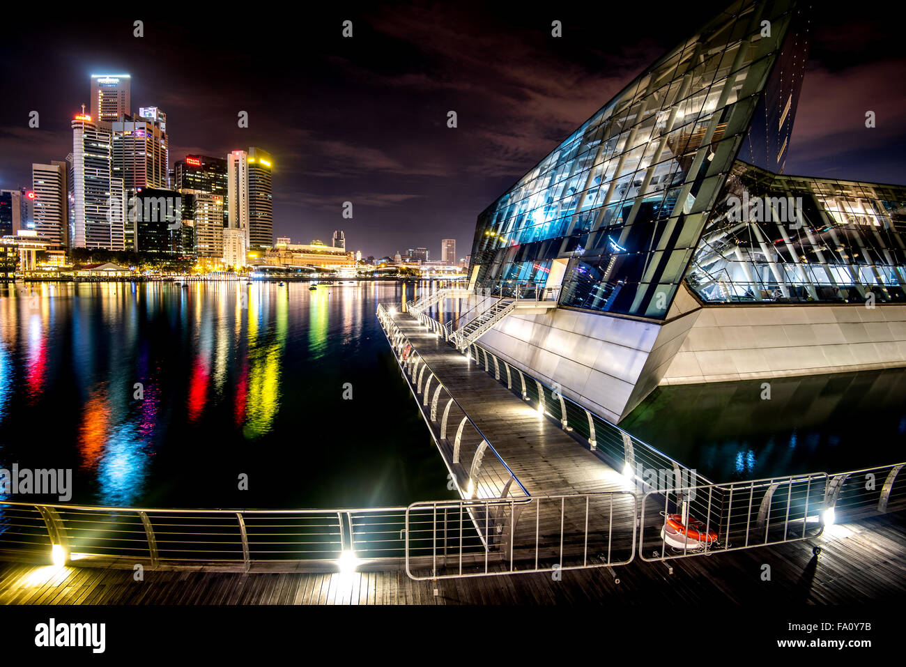 Downtown Core and Avalon in Singapore Stock Photo