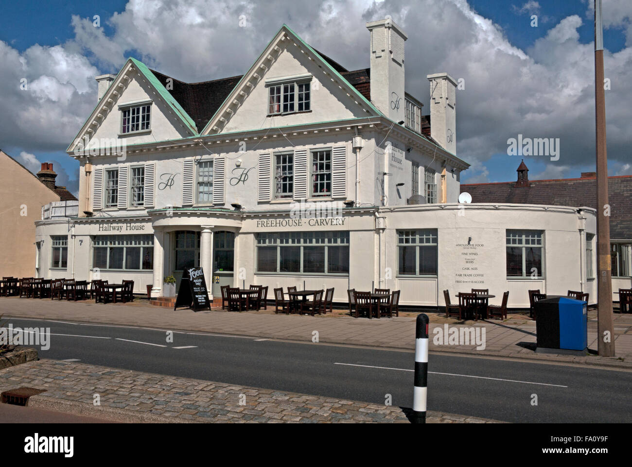 Halfway House Pub, Front, Southend on Sea, Essex, - Stock Image