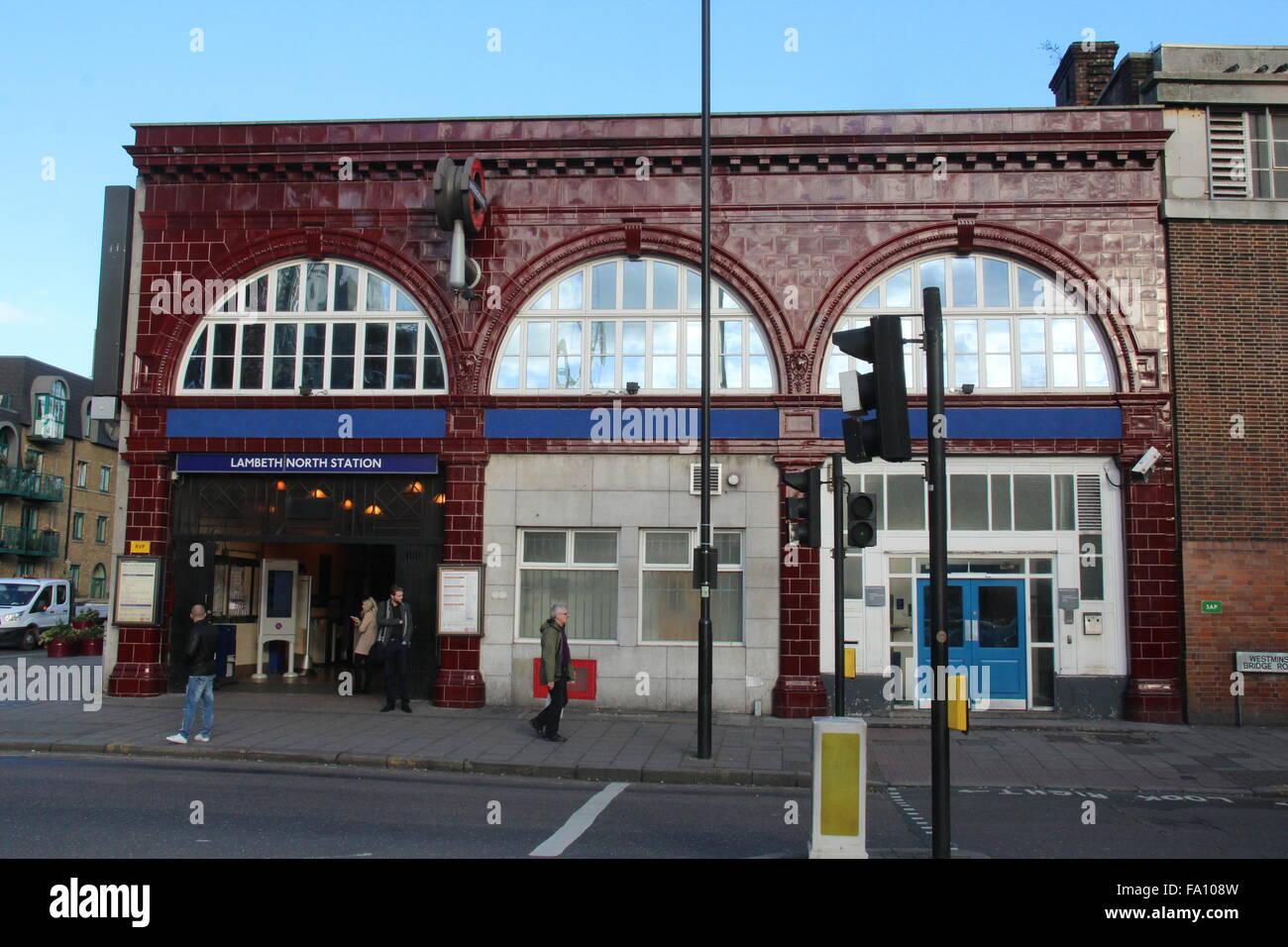 LAMBETH NORTH UNDERGROUND STATION IN LONDON UK - Stock Image
