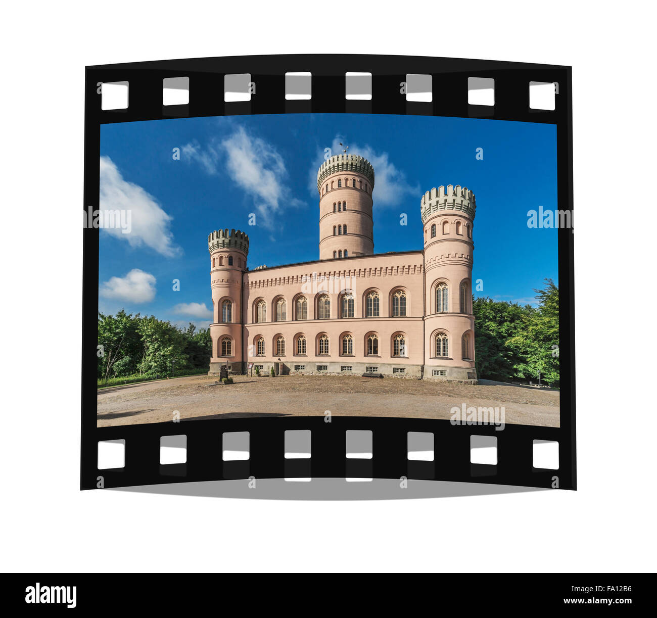 The Granitz Hunting Lodge, Ruegen Island, County Vorpommern-Ruegen, Mecklenburg-Western Pomerania, Germany, Europe - Stock Image