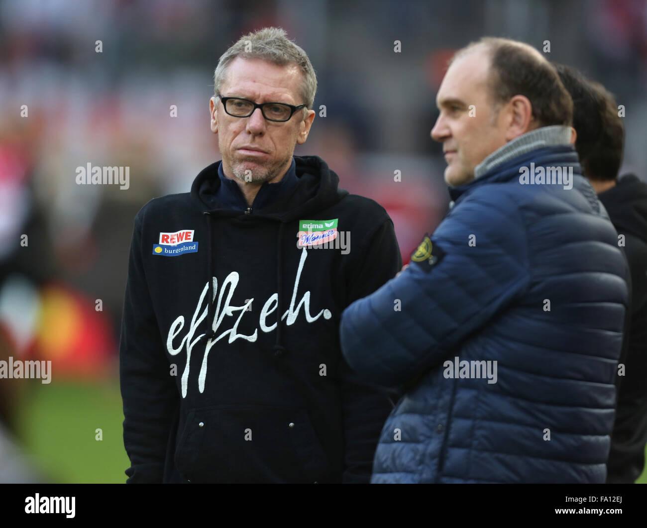 Fussball, 1. Bundesliga, matchday 17, 1. FC Koeln vs Borussia Dortmund, Koeln, 19.12.2015: Manager Peter Stoeger - Stock Image