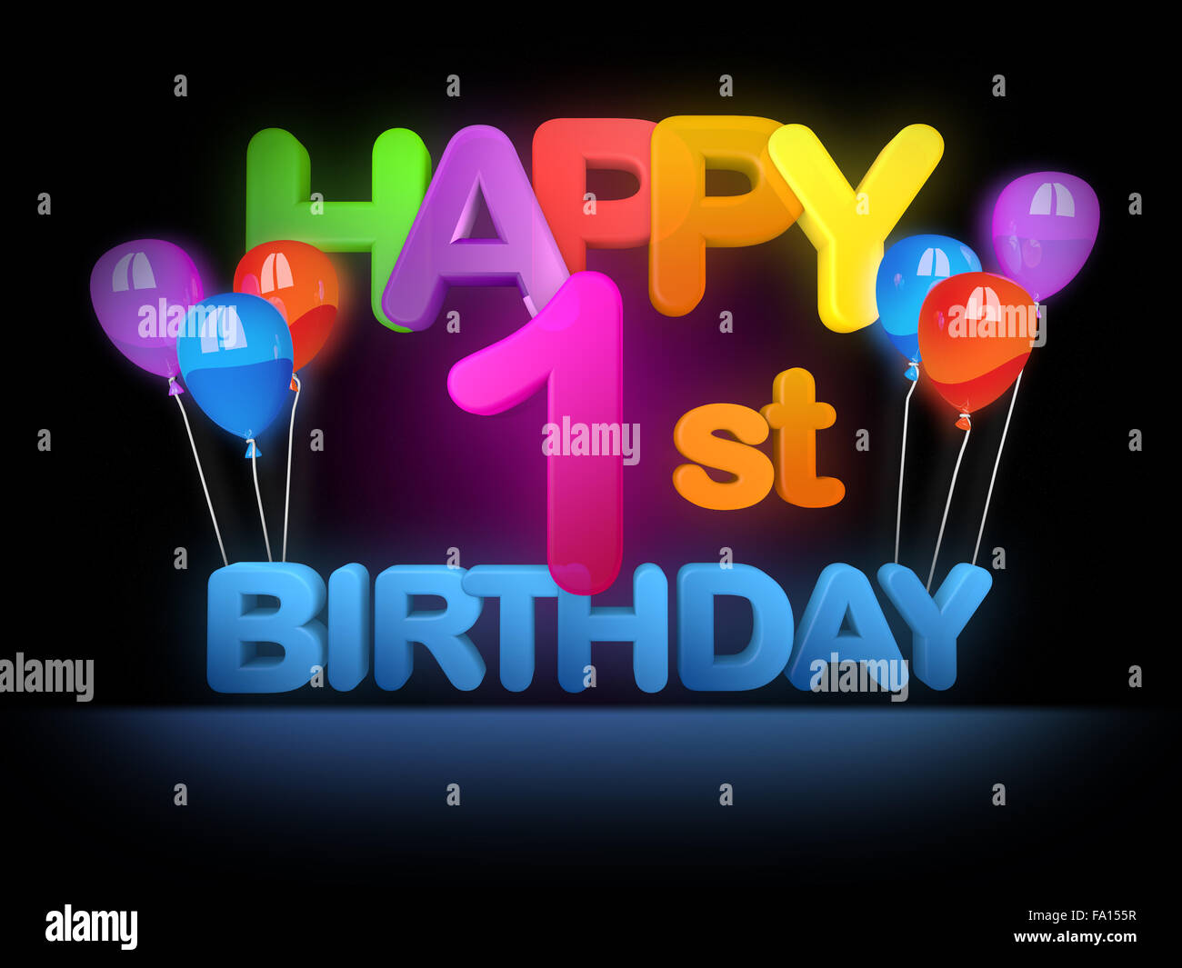 Happy 1st birthday title in big letters stock photo 92224435 alamy happy 1st birthday title in big letters thecheapjerseys Image collections