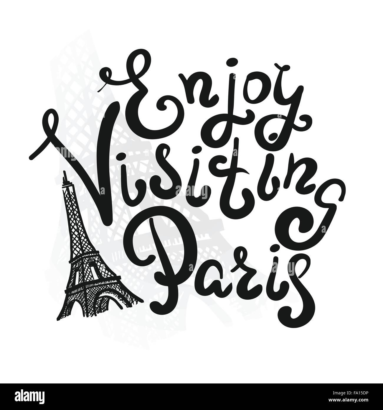 Enjoy visiting paris - Stock Vector