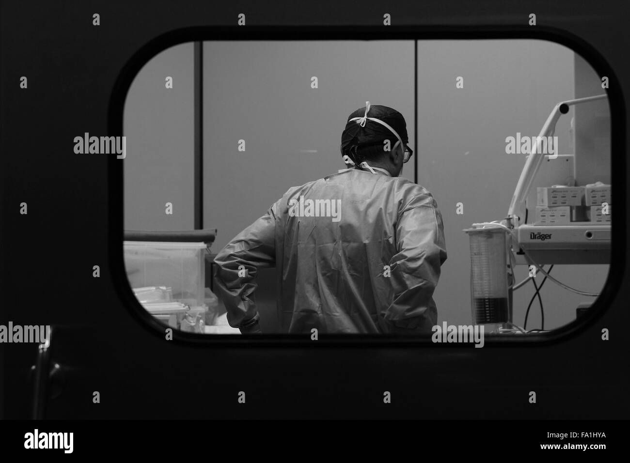 Surgery, operating theatre, surgeon, - Stock Image