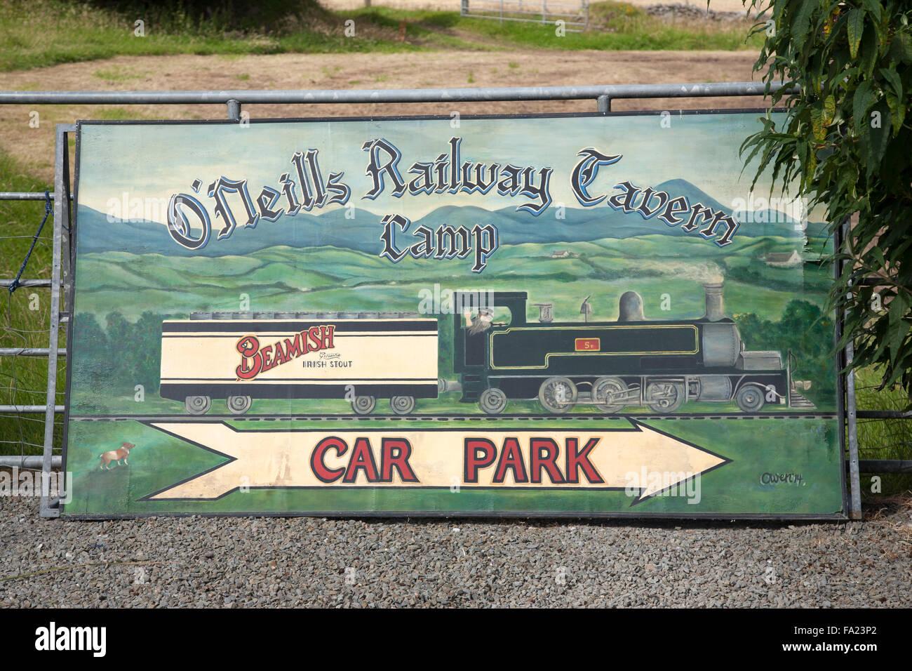 Railway Tavern Pub, Camp, Dingle Peninsula; Ireland - Stock Image