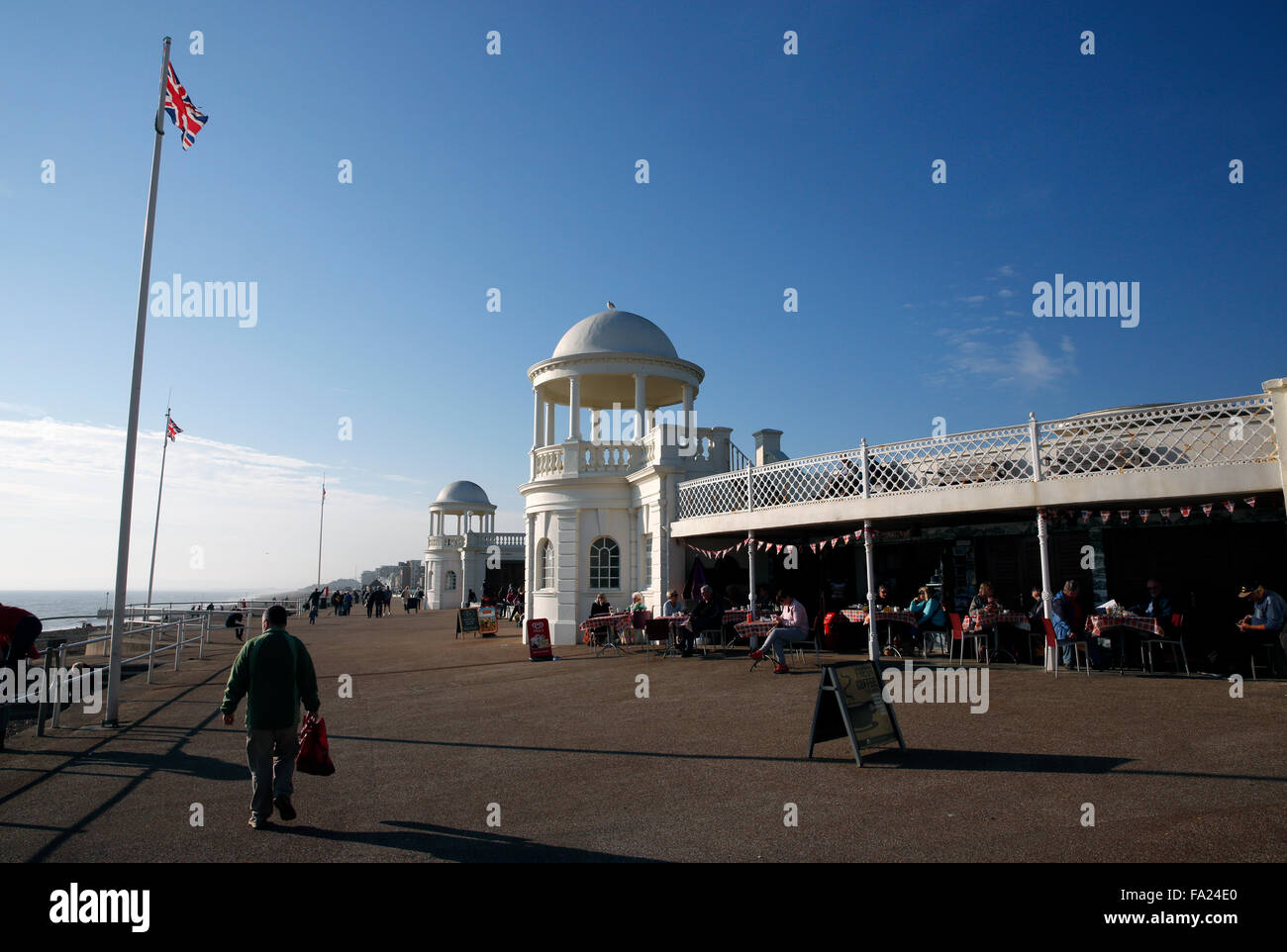 A general view of De La Warr pavilion Bexhill on Sea East Sussex in England October 2015 Stock Photo