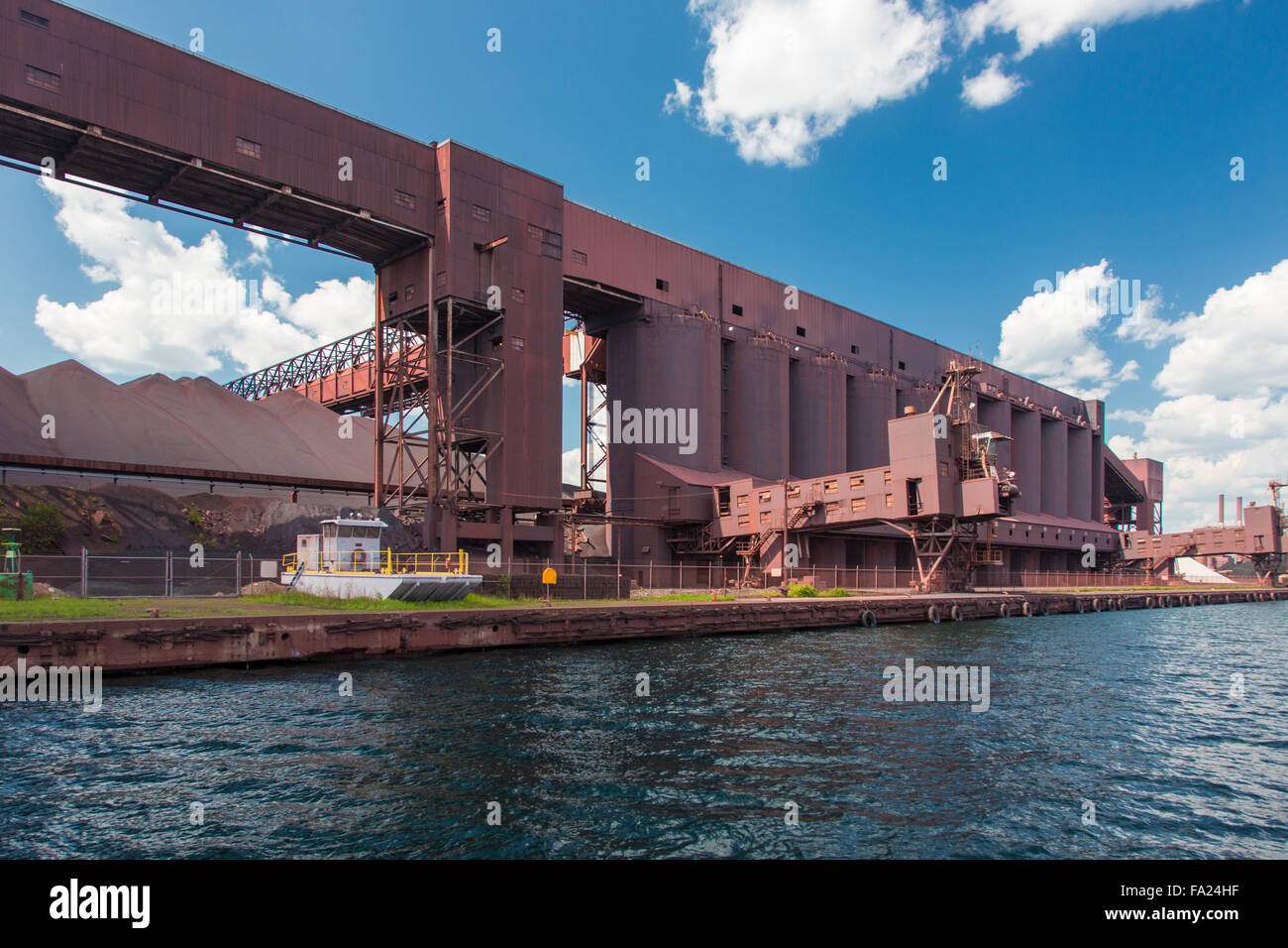 Cliffs Natural Resources Northshore Mining plant in Silver Bay on the north shore of Lake Superior in Minnesota - Stock Image