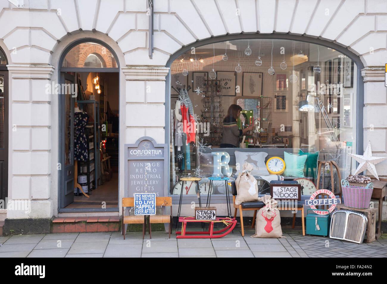 Consortium Shop, Winchester, England - Stock Image