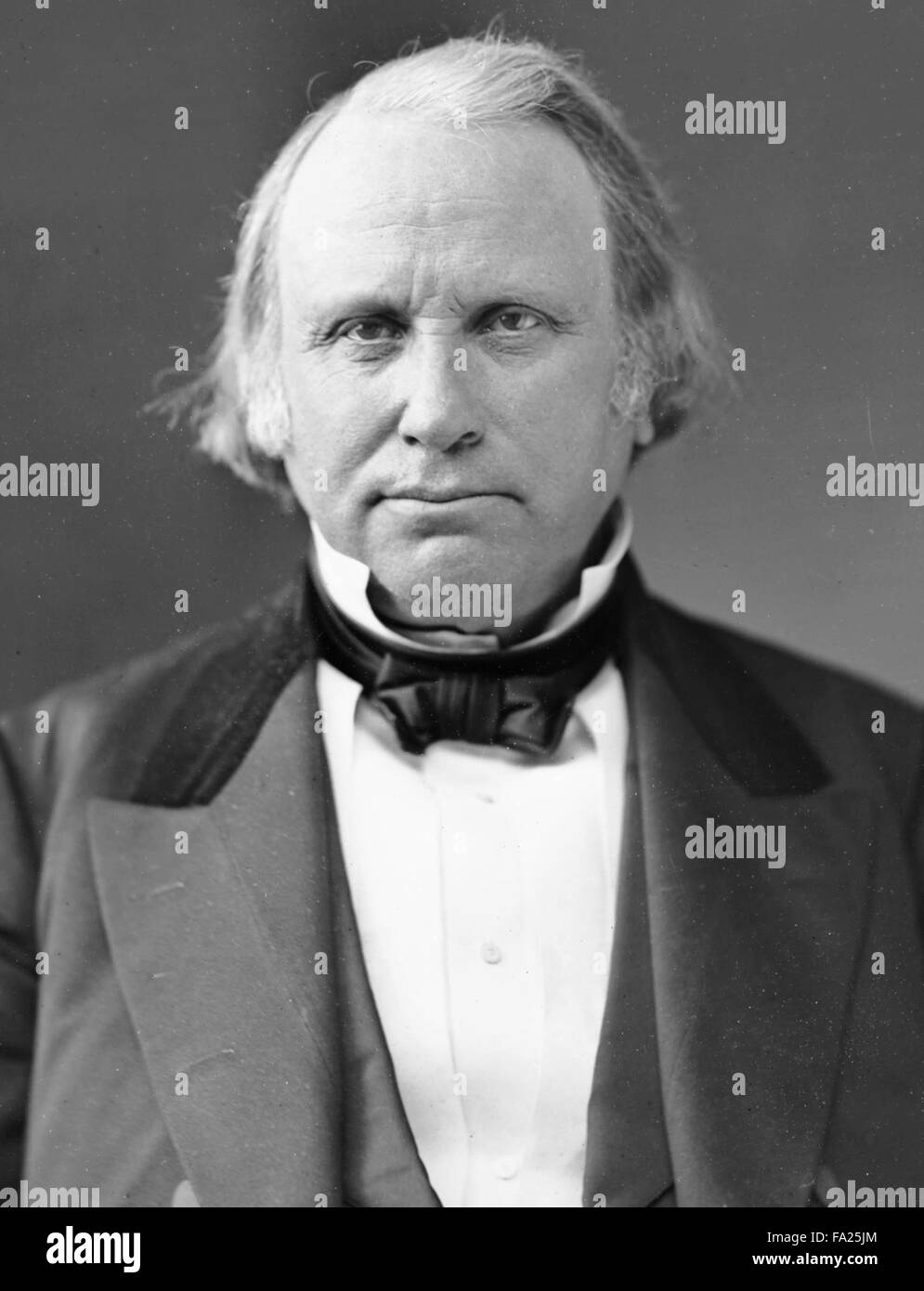 Henry Wilson, was the 18th Vice President of the United States (1873–1875) - Stock Image