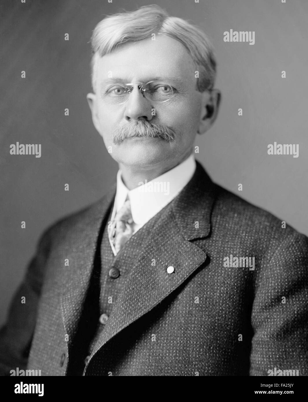Thomas Riley Marshall, American Democratic politician who served as the 28th Vice President of the United States - Stock Image