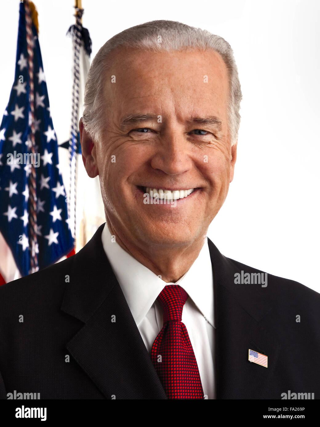 Joseph Robinette 'Joe' Biden, Jr. American politician who is the 47th Vice President of the United States. - Stock Image