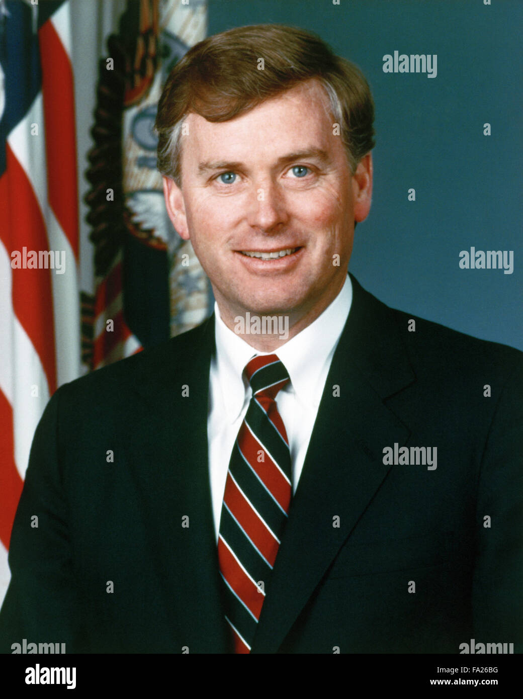 James Danforth 'Dan' Quayle, American politician and the 44th Vice President of the United States (1989–93) - Stock Image