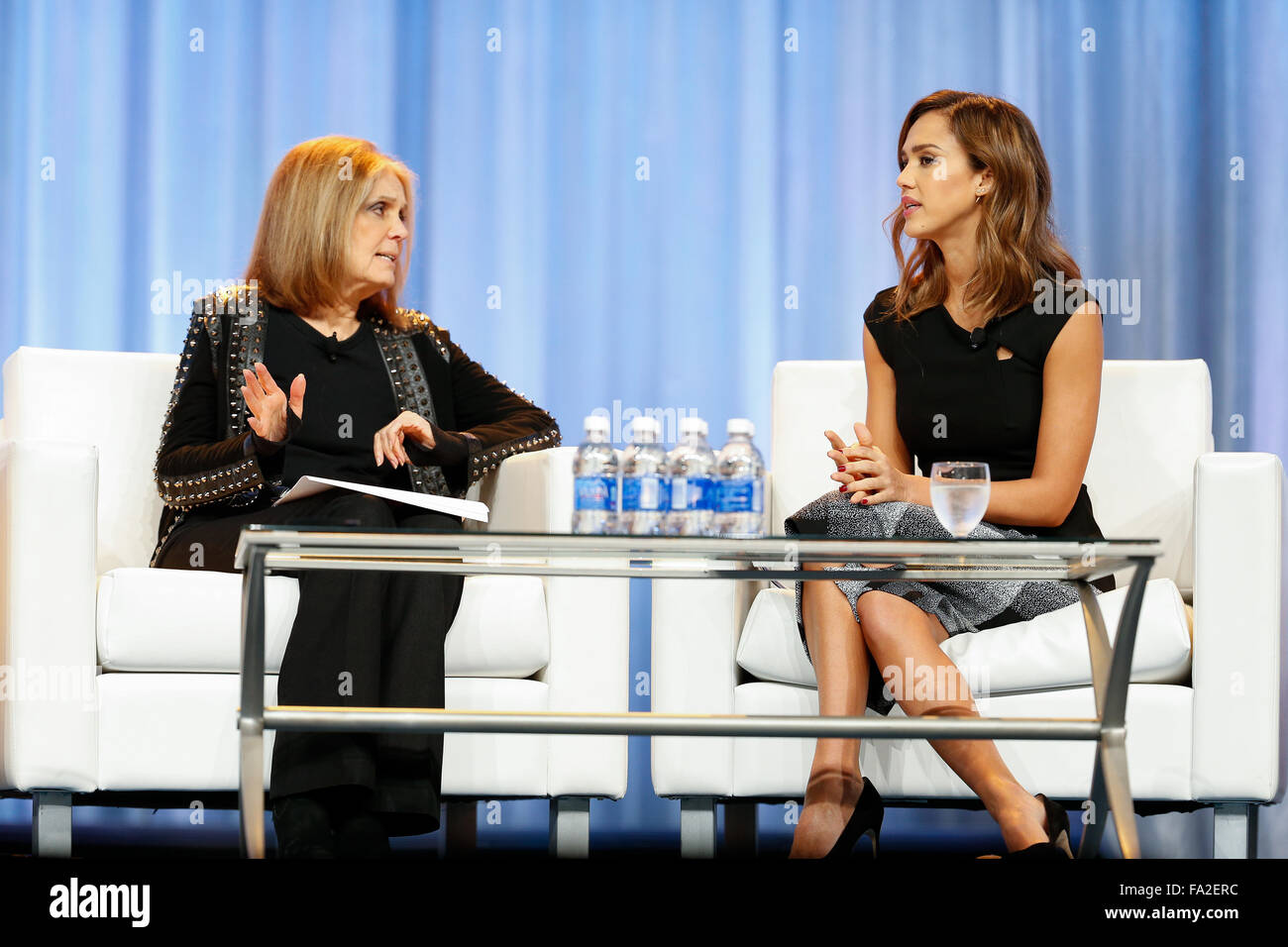 Summer Conference Keynoted By Jessica >> Jessica Alba Speaks During A Keynote Q A With Gloria Steinem At The