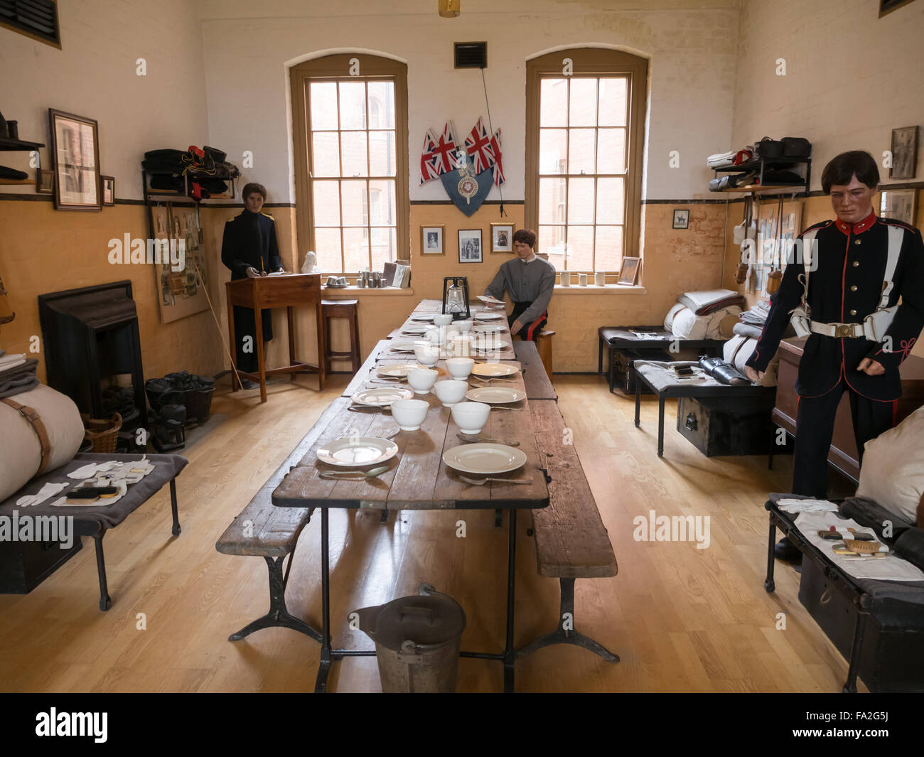 The Officers Mess inside Fort Nelson Royal Armouries museum, Portsmouth, England - Stock Image