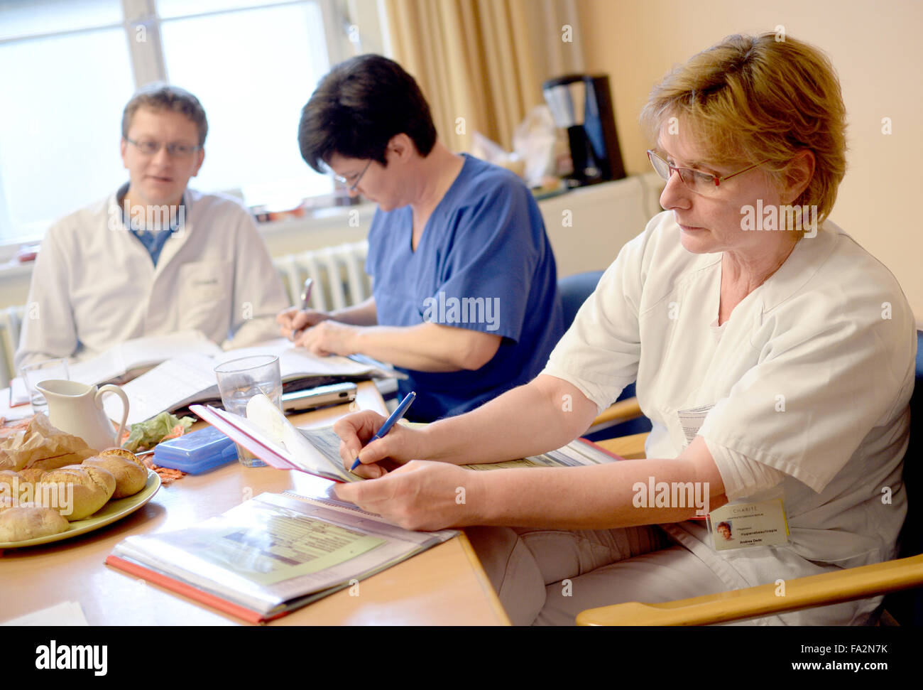 Schreiner Berlin berlin germany 07th dec 2015 hospital aides andrea dede r and