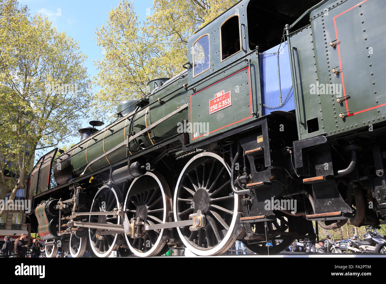 Steam locomotive. Exhibition: ' Il Žtait une fois l'Orient Express' 'Once upon a time the Orient - Stock Image