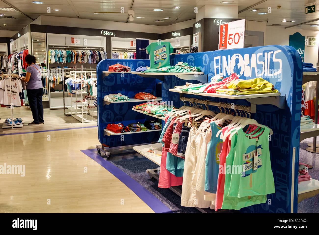 Spain Europe Spanish Hispanic Madrid Moncloa-Aravaca Calle de la Princesa El Corte Ingles department store shopping Stock Photo