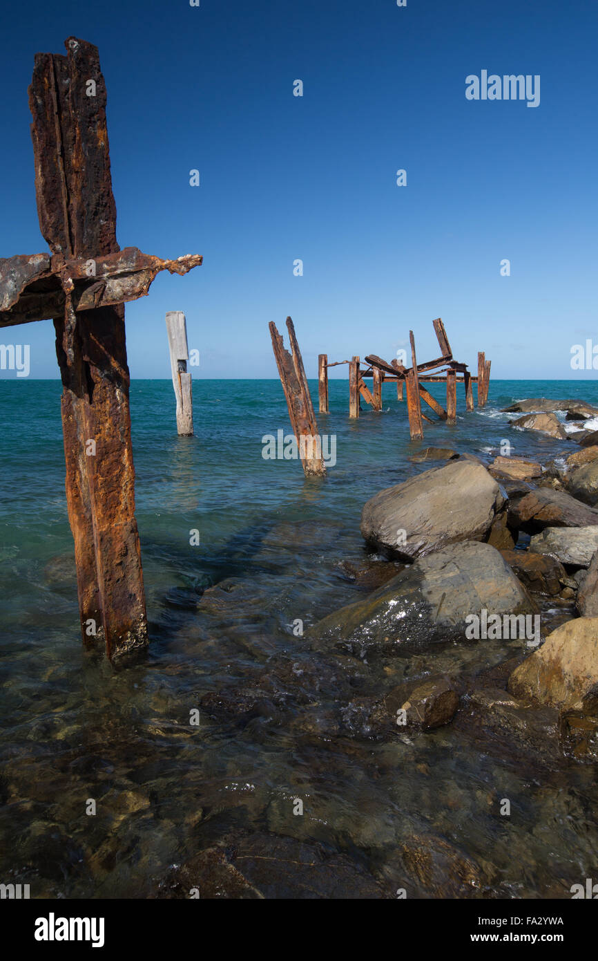 Old jetty at Archer Point, Qld. Stock Photo