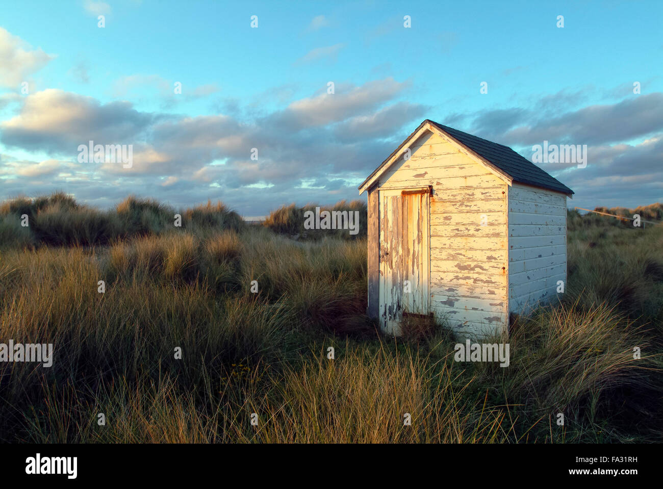 Beach Hut Findhorn Morayshire, Scotland, Great Britain, Europe - Stock Image