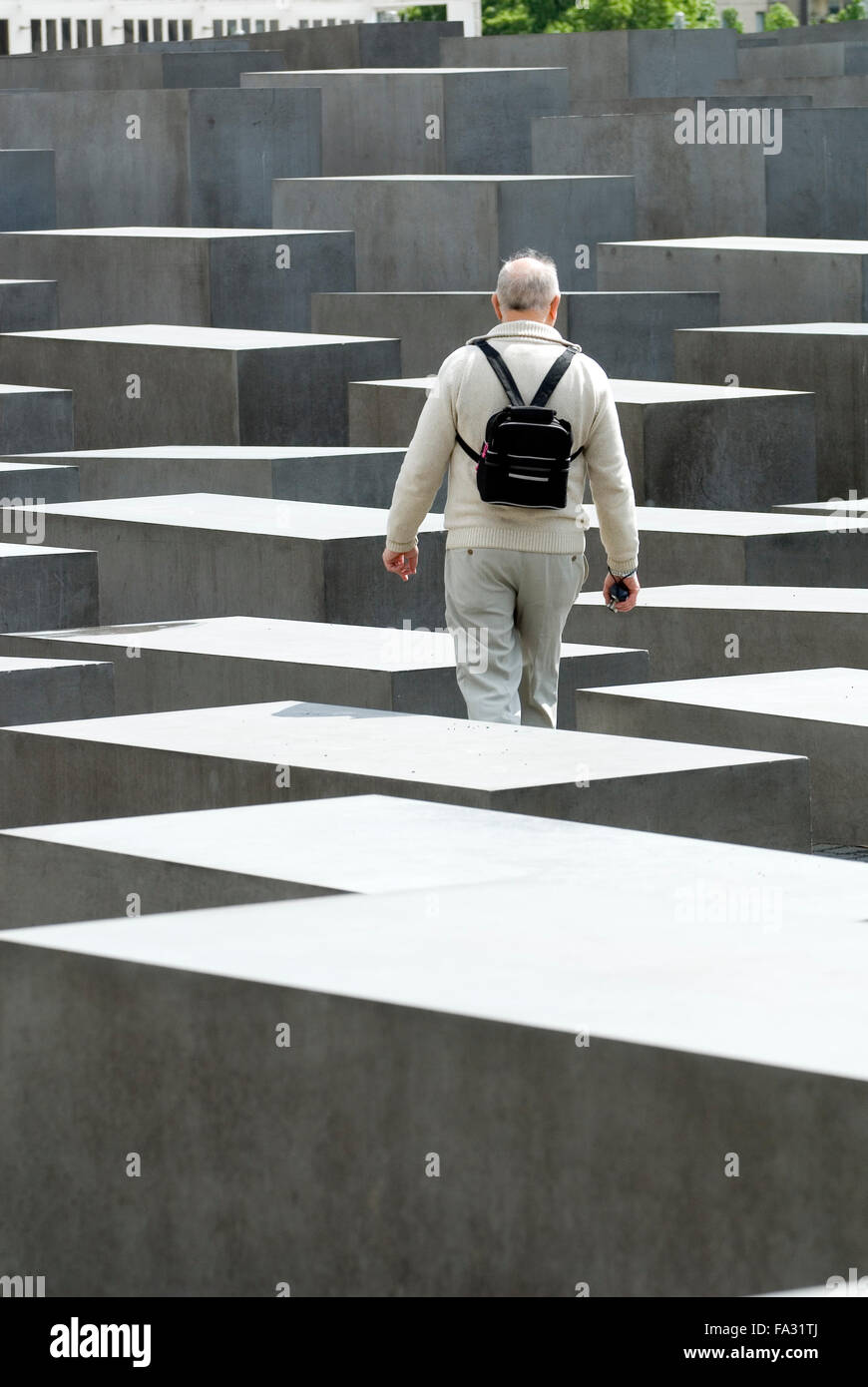Berlin Holocaust Mahnmal Deutschland Architekt Peter Eisenman   Memorial to the Murdered Jews of Europe, Berlin, - Stock Image