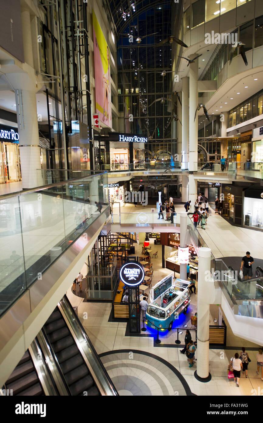 Eaton Centre mall, Toronto - Stock Image