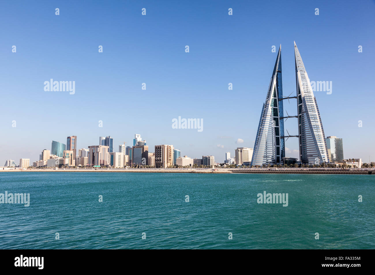 Manama skyline, Kingdom of Bahrain - Stock Image