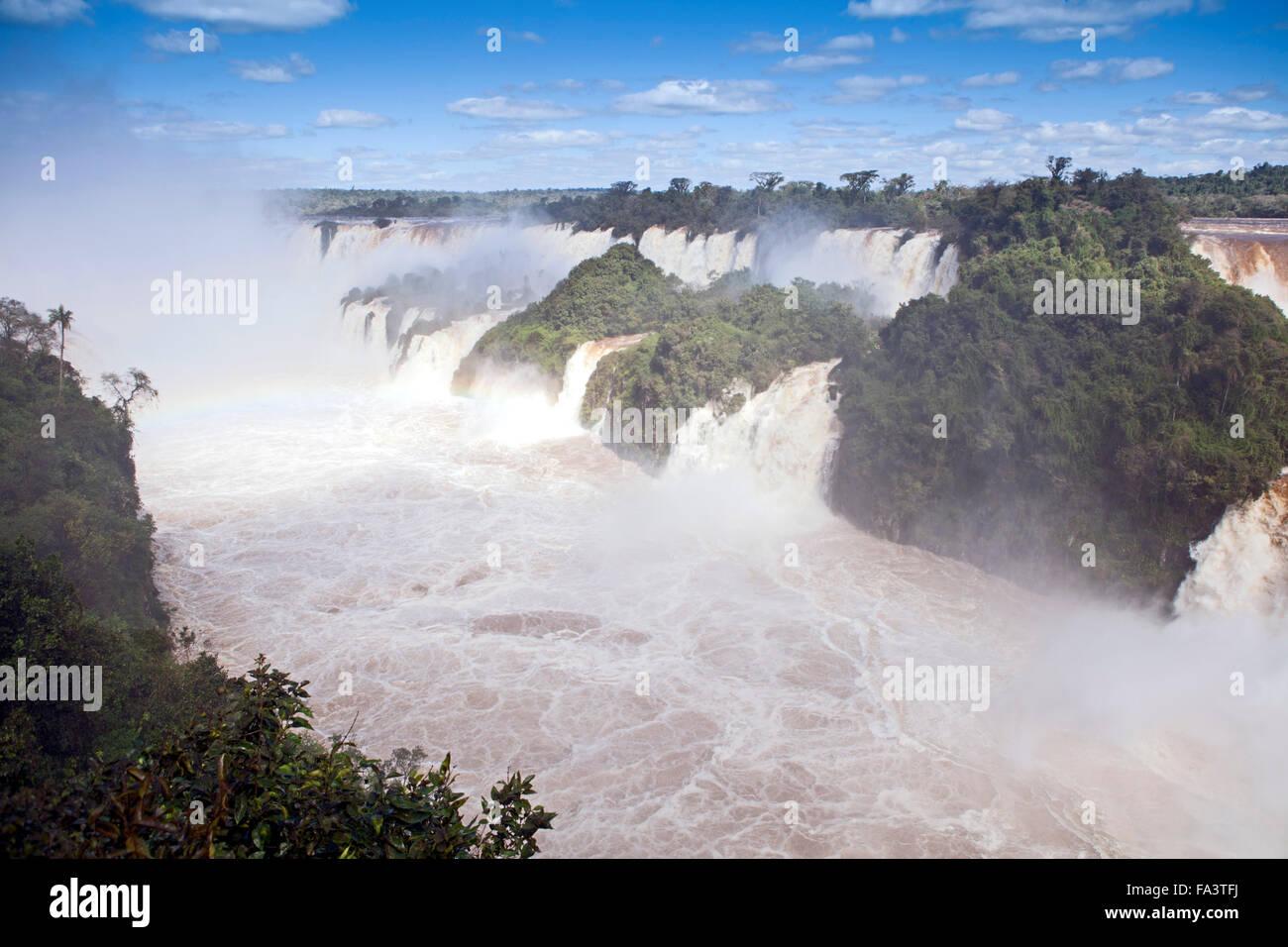 The Garganta do Diabo (Devil's Throat) at the Iguacu / Iguazu falls in the Iguassu Falls national park in Argentina - Stock Image