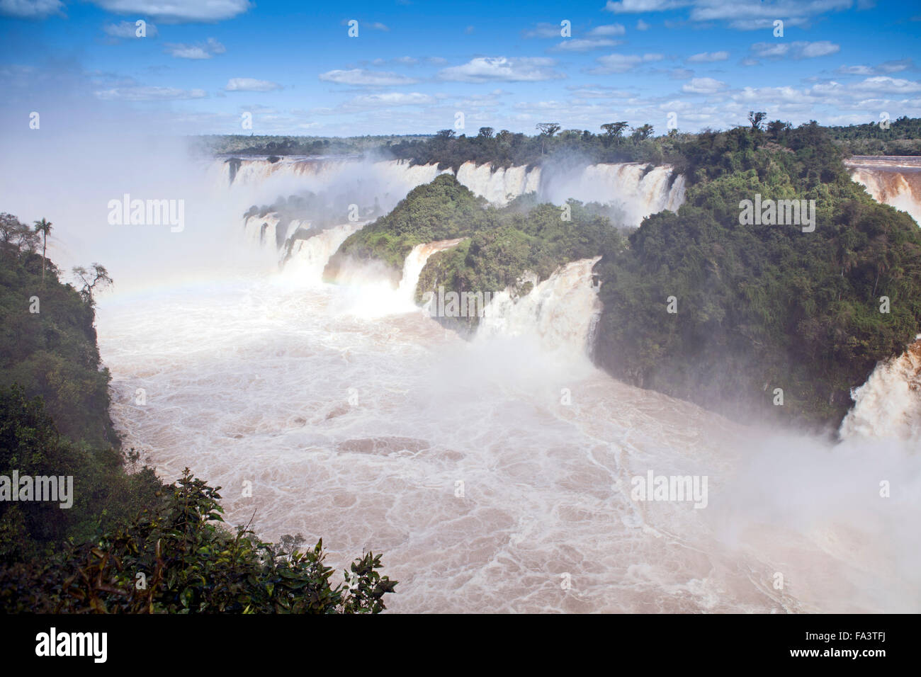 The Iguazu waterfalls on the border of Brazil and Argentina, South America Stock Photo