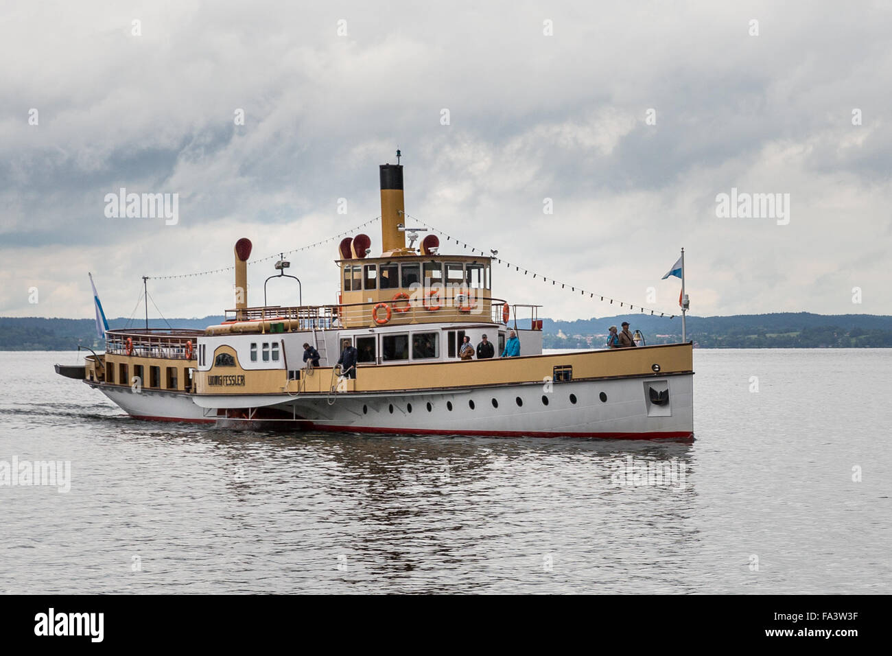 Herreninsel, Chiemsee, Germany, lake, water, boat trip, tourism, travel, island, - Stock Image