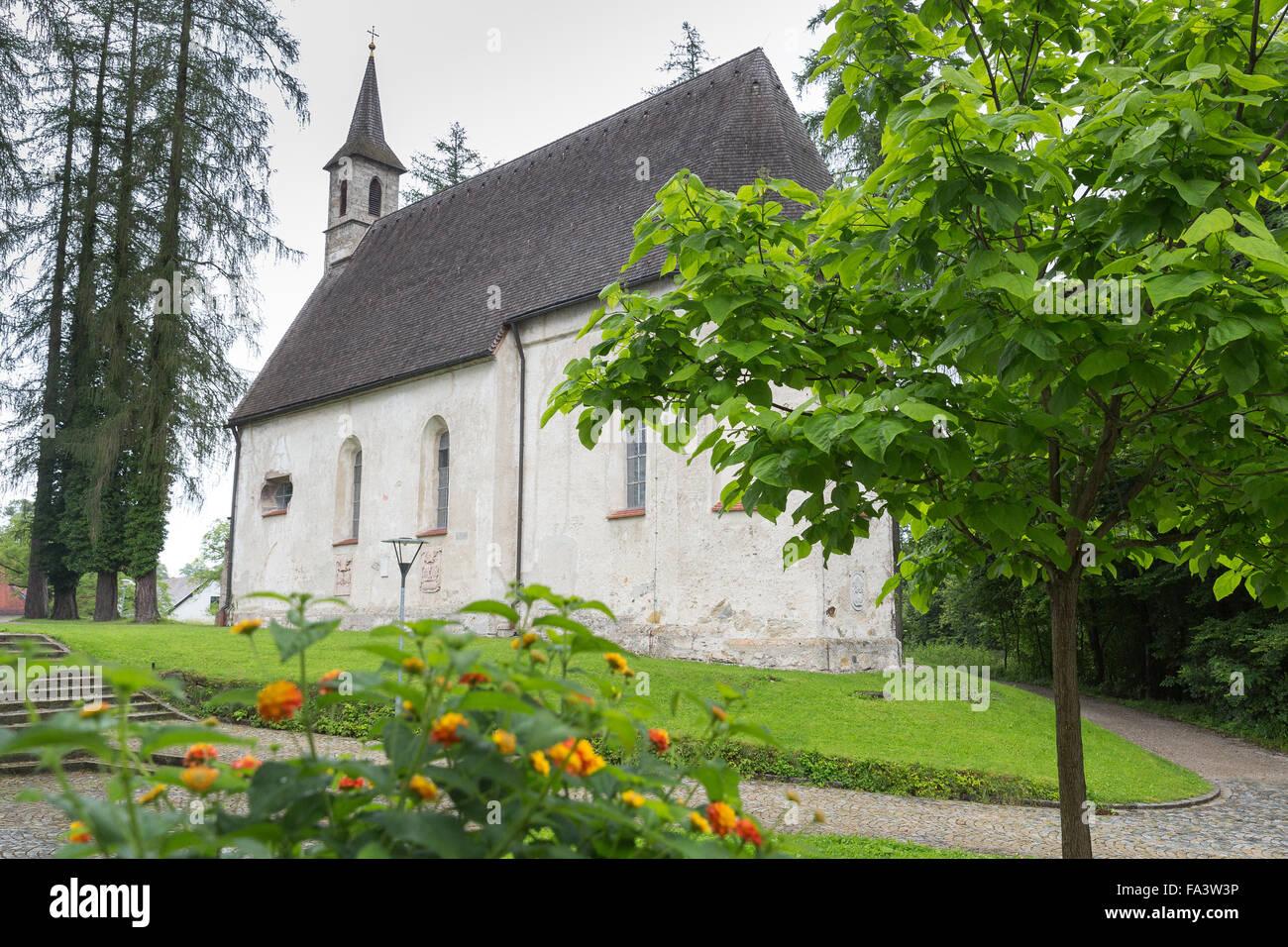 Herreninsel, Chiemsee, Germany, lake, water, boat trip, tourism, travel, island, church, - Stock Image